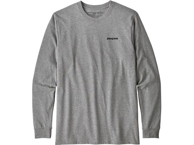 Tidsmæssigt Patagonia P-6 Logo Langærmet T-shirt Herrer, gravel heather | Find YT-34